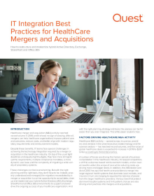 IT Integration Best Practices for Healthcare M&A