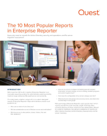 Top 10 Most Popular Reports in Enterprise Reporter