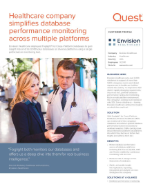 Healthcare company monitors 3,000+ diverse databases with a single solution